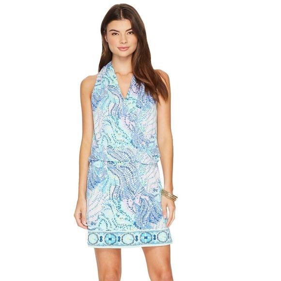 df39b69436bd75 Lilly Pulitzer Dresses | Felizia Dress Blue Current Fantasea | Poshmark